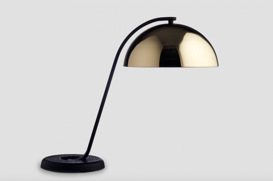 Bilde av Cloche Bordlampe HAY Brass