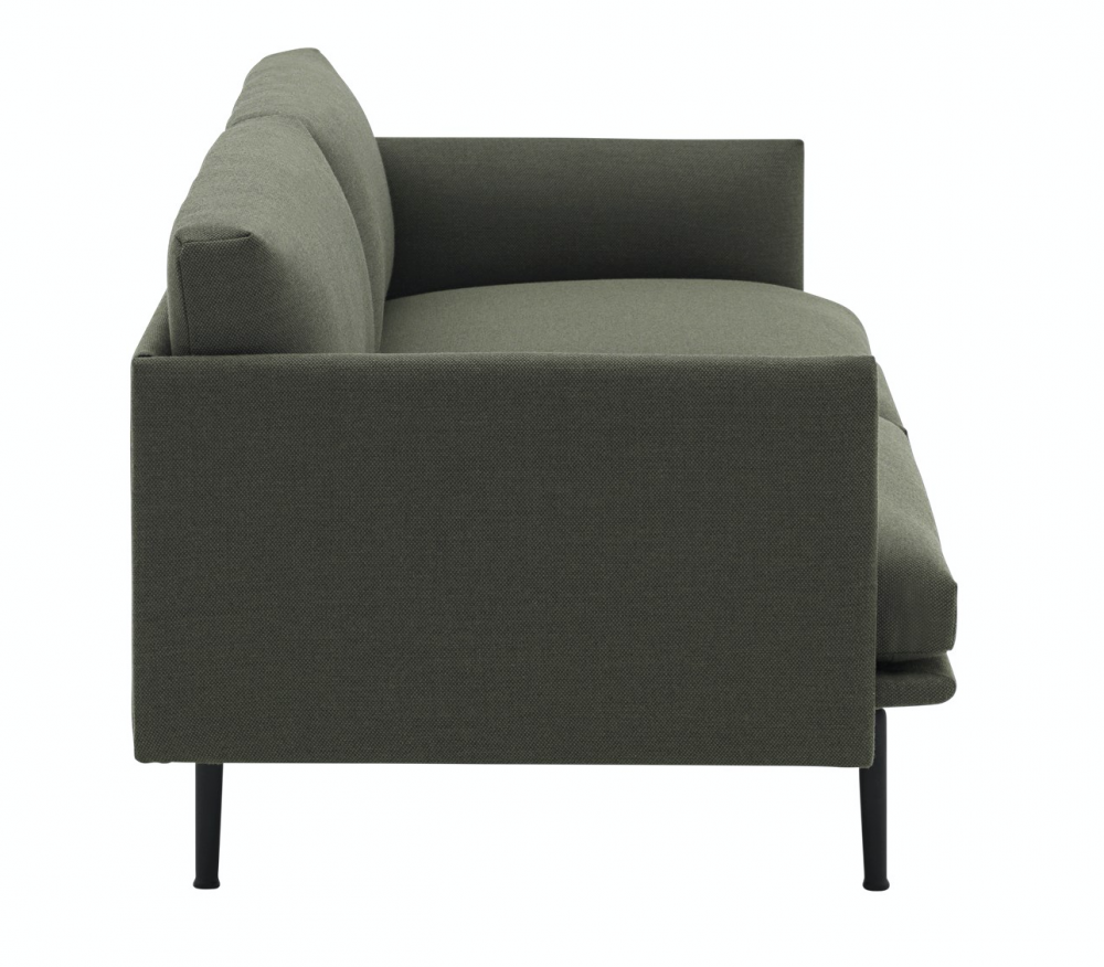 Outline Sofa 3 Seater Fiord 961 Muuto Hviit No