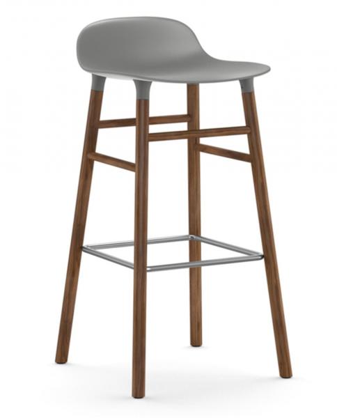 Bilde av Form Barstol Valnøtt Grå