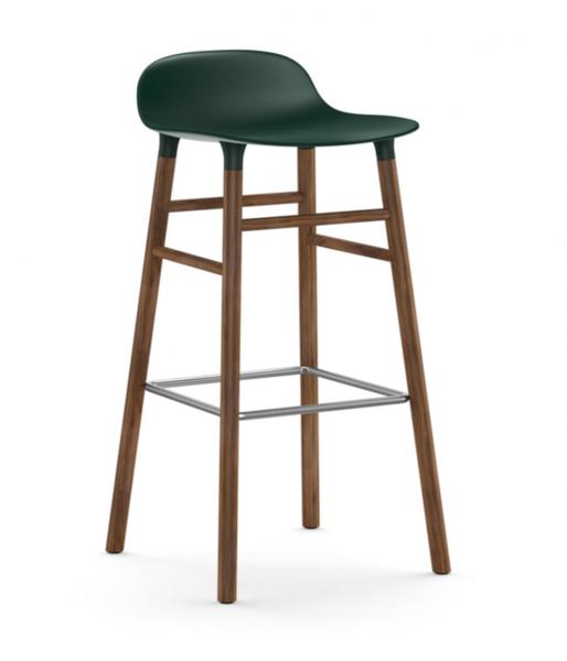 Bilde av Form Barstol Valnøtt Grønn