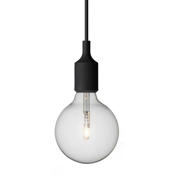E27 lampe sort Muuto Hviit.no