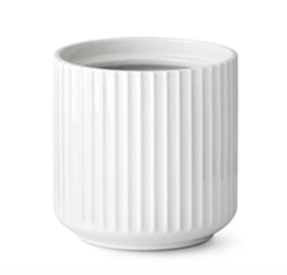 Bilde av Lyngby Urtepotte Hvit Porselen 14 cm