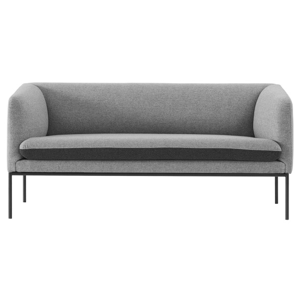Turn sofa, grå / ull ferm living   hviit.no