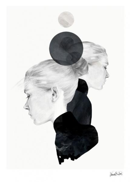 Bilde av Black Marble  50 x 70 cm