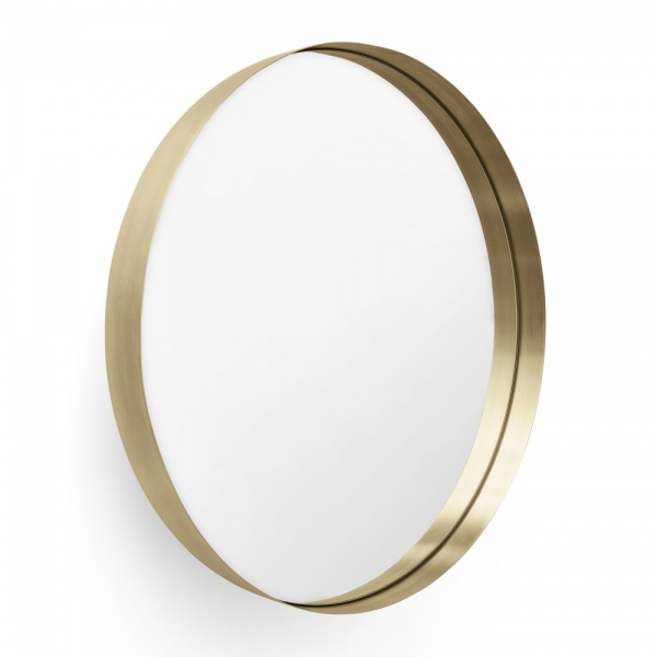 Messing speil for Ronde plakspiegel